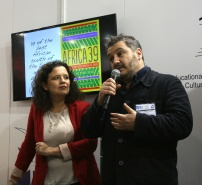 Cristina Fuentes La Roche, Director, Hay Festival Americas (left) and Peter Florence, Director of Hay Festival.