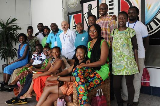 The 'Africa 39' authors at the venue of the welcome cocktail.